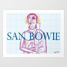 St. Bowie Art Print