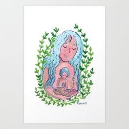 the maternal feeling Art Print