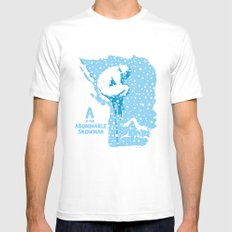 A is for Abominable Snowman Mens Fitted Tee White MEDIUM