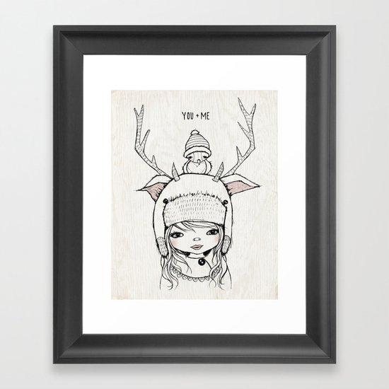 YOU + ME Framed Art Print