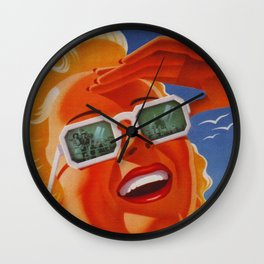 Vintage Atlantic City NJ Travel Wall Clock