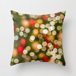 Christmas Photography - Blurred Christmas Lights Throw Pillow