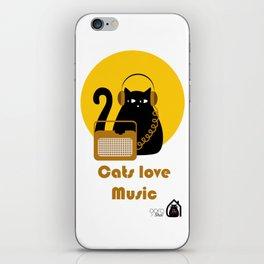 Cats love Music by Qora & Shaï iPhone Skin