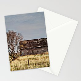 Old Barn in a Field Stationery Cards