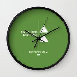 Perfect Logo Series (5 of 11) - Green Wall Clock