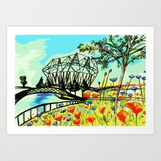 The Olympic Park London 2012  Art Print