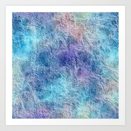 Colorful Cool Tones Blue Purple Abstract Art Print