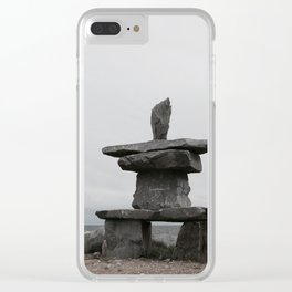 Inukshuk Clear iPhone Case