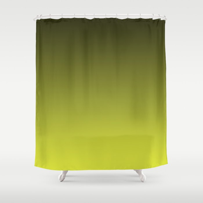 Olive Ombre Shower Curtain