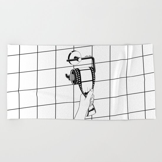 Past is shit Beach Towel