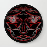 weird Wall Clocks featuring Weird by Sean McDaniel