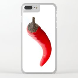 Red Birds Eye Chilli Pepper Clear iPhone Case