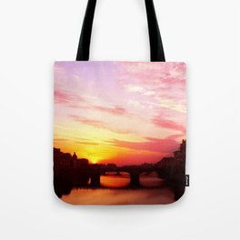 Sunset in Florance.  Tote Bag