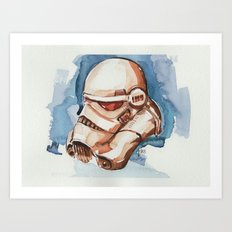 Storm trooper water color FAnart Art Print