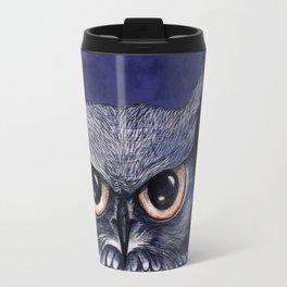 La Sagesse du Hibou (The Blue Owl) Travel Mug