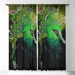Bird Models: Victoria Crowned Pigeon 01-02 Blackout Curtain