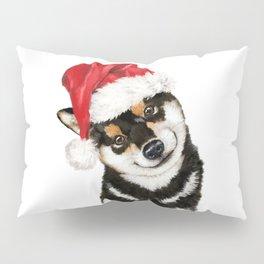 Christmas Black Shiba Inu Pillow Sham