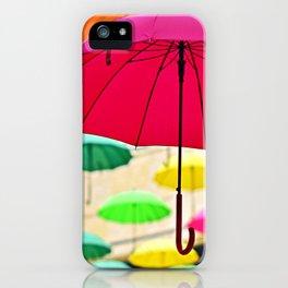 Umbrella Series - Pink iPhone Case