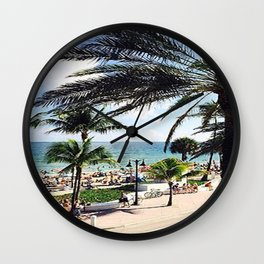 Ft. Lauderdale Beach   Photo Wall Clock