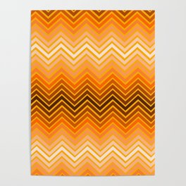 Orange chevron Poster
