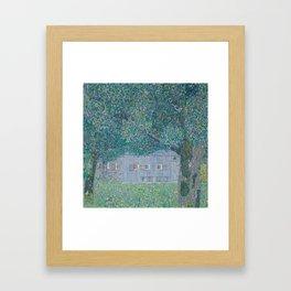 Farmhouse in Buchberg by Gustav Klimt Framed Art Print