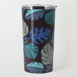 Blue Frond Travel Mug