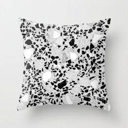Real Terrazzo Stone Marble Concrete Mix Pattern Throw Pillow