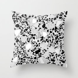 Real Terrazzo Stone Marble Concrete Mix Pattern Throw Pillow