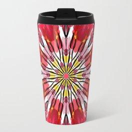 Abstract Garden - red flower Travel Mug