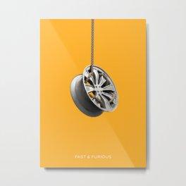 Fast and Furious Metal Print