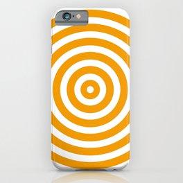 Circles (Orange & White Pattern) iPhone Case
