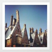 Harry Potter Hogsmeade Art Print