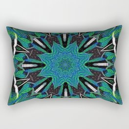 Multiple Cracks Nausea Mandala Rectangular Pillow