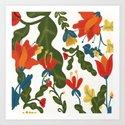 Tropical Flower Pattern by aljahorvat