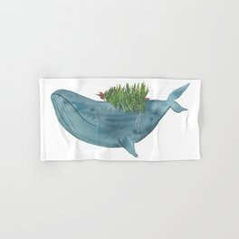 Christmas whale Hand & Bath Towel