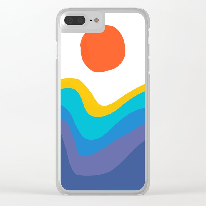 Abstract Y Minimum Colorful Pattern Clear iPhone Case