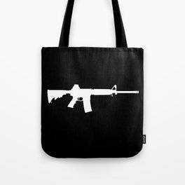 AR-15 (on black) Tote Bag