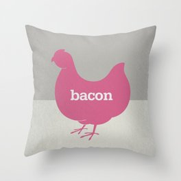 Bacon/Eggs Throw Pillow