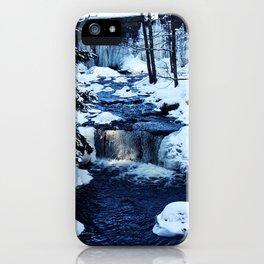 Winter Waterfalls iPhone Case