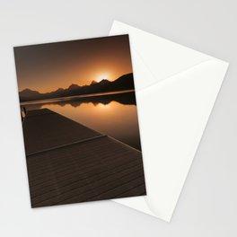Lake McDonald Wake Up Call Stationery Cards