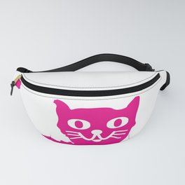 Magenta cat, cat pattern, cat design Fanny Pack
