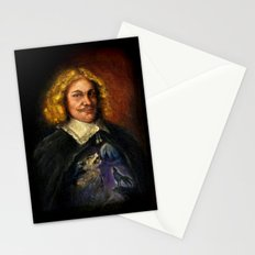 Portrait of a Sweet Dude Rockin a Sweeter than Hell Wolf Shirt  Stationery Cards