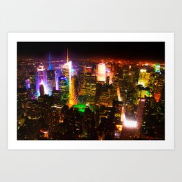 View of New York Art Print
