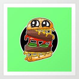 Fast Food FRENZY - Cheezy Bob Art Print