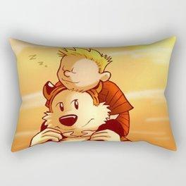 Calvin Hobbes Lazy day Rectangular Pillow