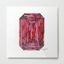 Watercolor Ruby Metal Print