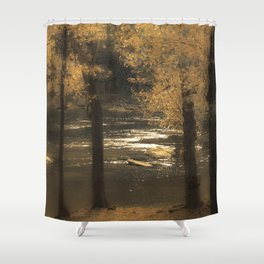 Golden Hues Shower Curtain