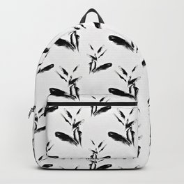 Feather Flurry I (B&W) Backpack