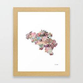 Belgium map - Portrait Framed Art Print