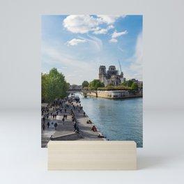 Notre Dame de Paris after the fire Mini Art Print